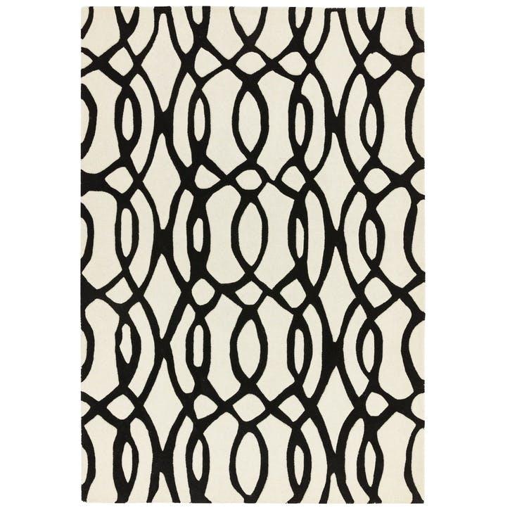 Matrix Runner Rug, 0.7 x 2.4m, Wire White