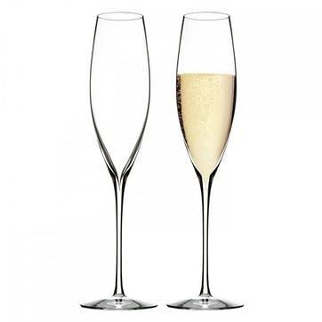 Elegance Crystal Champagne Flute, Set of 2