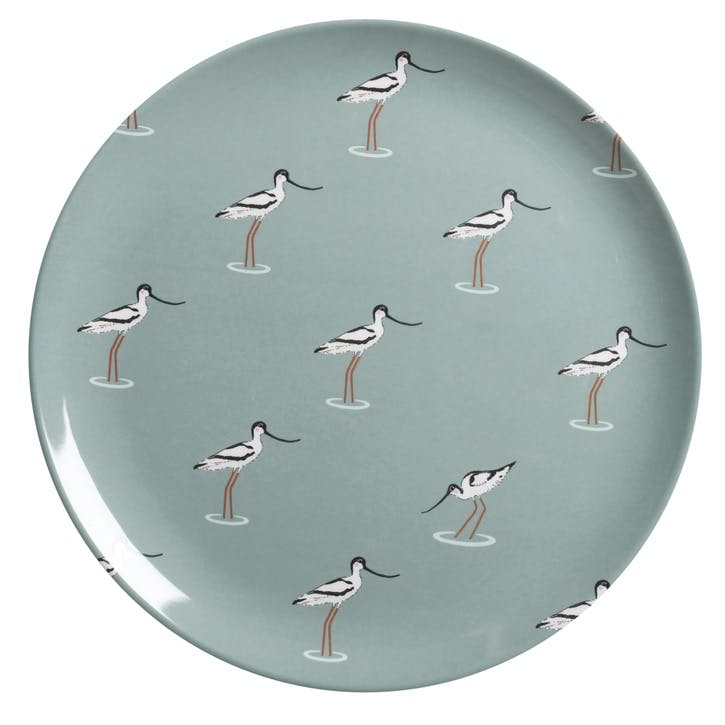 'Coastal Birds' Melamine Dinner Plate