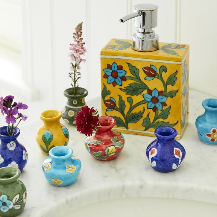 Jaipur Mini Hand painted Vases, Set of 8