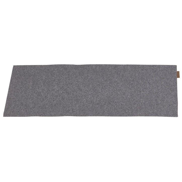 Vendela Wool Table Runner, Granite