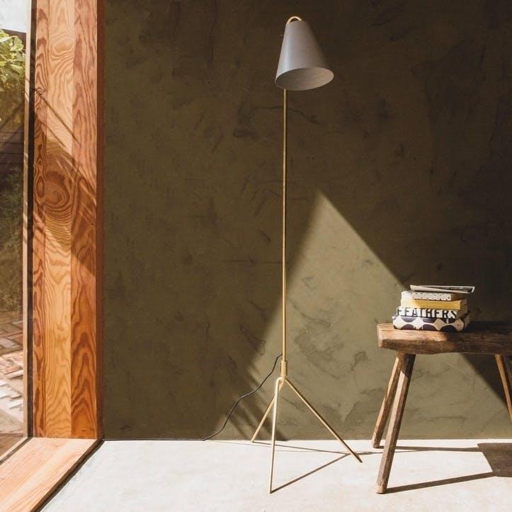 Asva Grey Floor Lamp