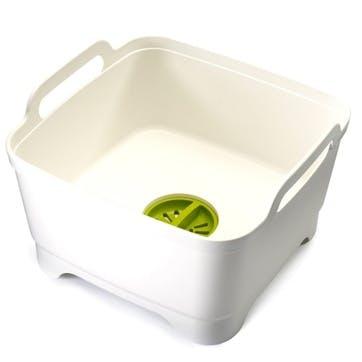 Wash&Drain Dishwashing Bowl, White