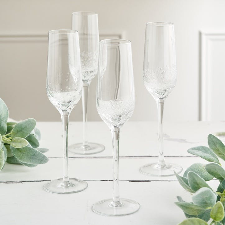 Jewel Bubble Champagne Glass, Set of 4