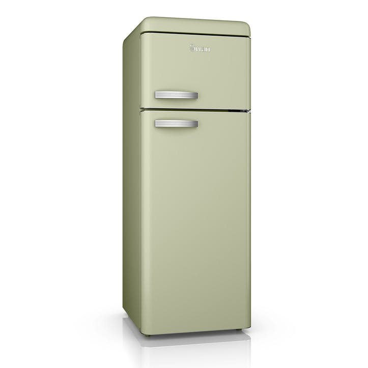 Retro Top-Mounted Fridge Freezer, Green
