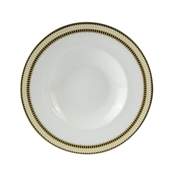 Oscillate Ochre Pasta Bowl - 27cm; Ochre
