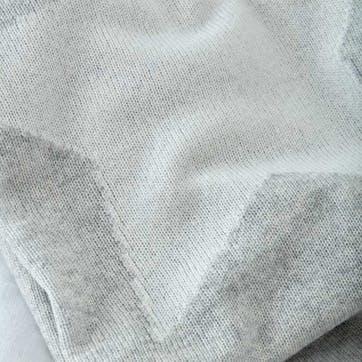 Star Cashmere Baby Blanket, W100 x L75cm, Pale Grey Marl