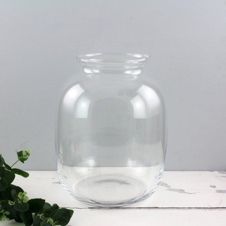 Glass Jar Vase, Short