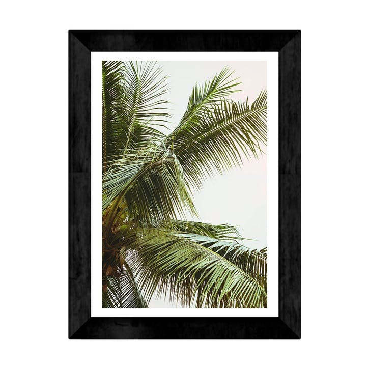 Honeymoon Hotel, Palms Above Me, Framed Art Print, H48 x W37 x D2cm, Black