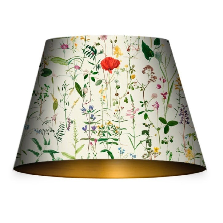Aquafleur Taupe Cone Lampshade, Medium
