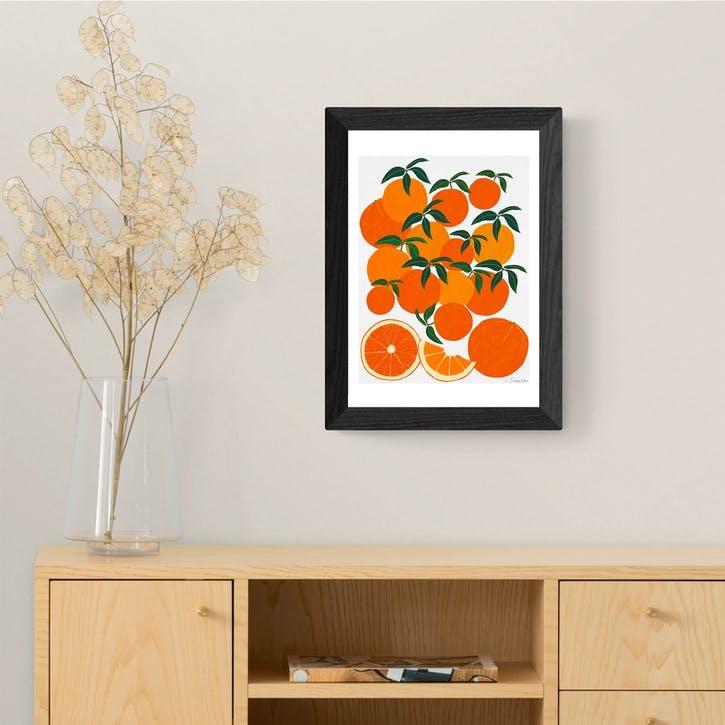 Leah Simpson, Orange Harvest, Framed Art Print, H48 x W37 x D2cm, Black