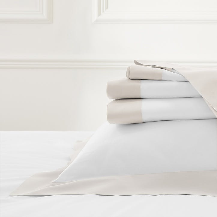 Camborne Flat Sheet, Double, Oyster