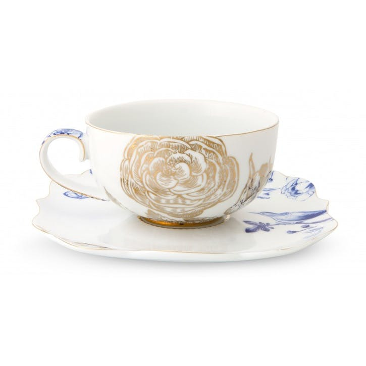PiP Royal White Tea Cup & Saucer