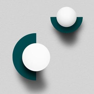 C, Plug in Wall Lamp, H28 x W22 x D20cm, Bluegreen