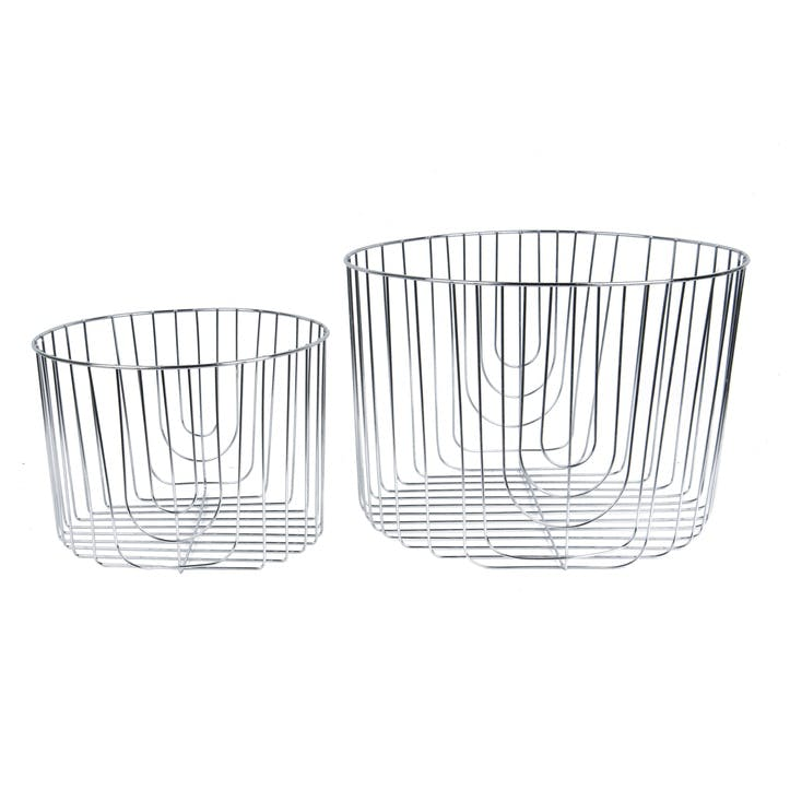 Metal Basket, Set of 2