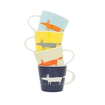 Mr Fox Espresso Cups, Set of 4