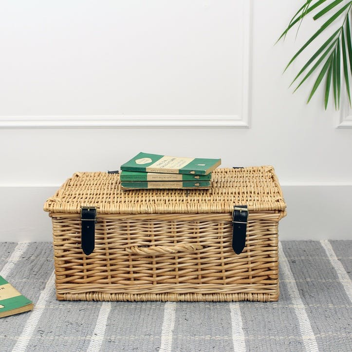 Wicker Hamper - 18 Inch; Natural