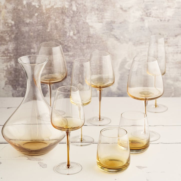 Amber White Wine Glass, Set of 4