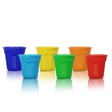 Espresso Cup Set, Set of 6, Multi