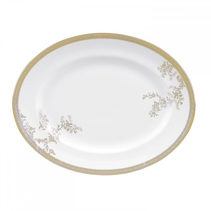 Lace Gold Oval Dish, Large
