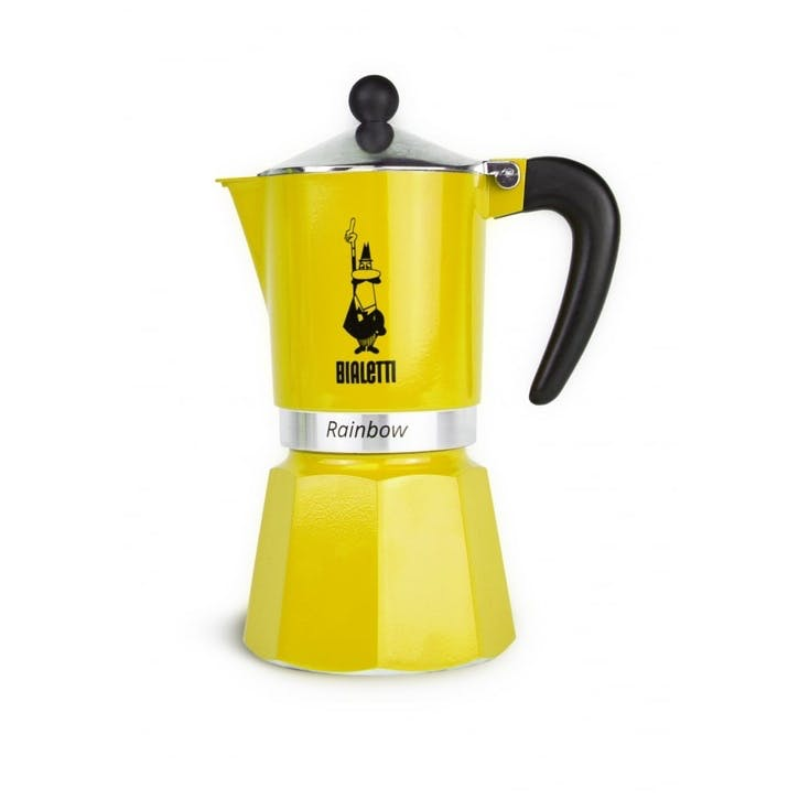 Rainbow Moka Express - 6 Cup; Yellow