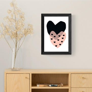Seventy Tree, Two Hearts Framed Art Print