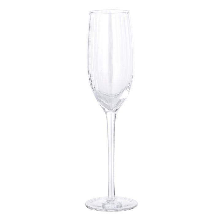 Ula Champagne Glass, Set Of 6, Clear