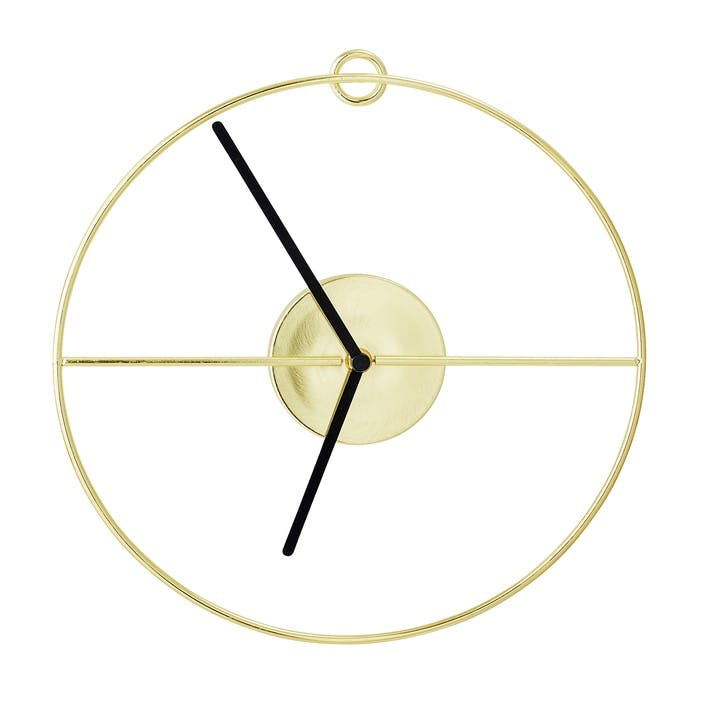 Open Gold Wall Clock
