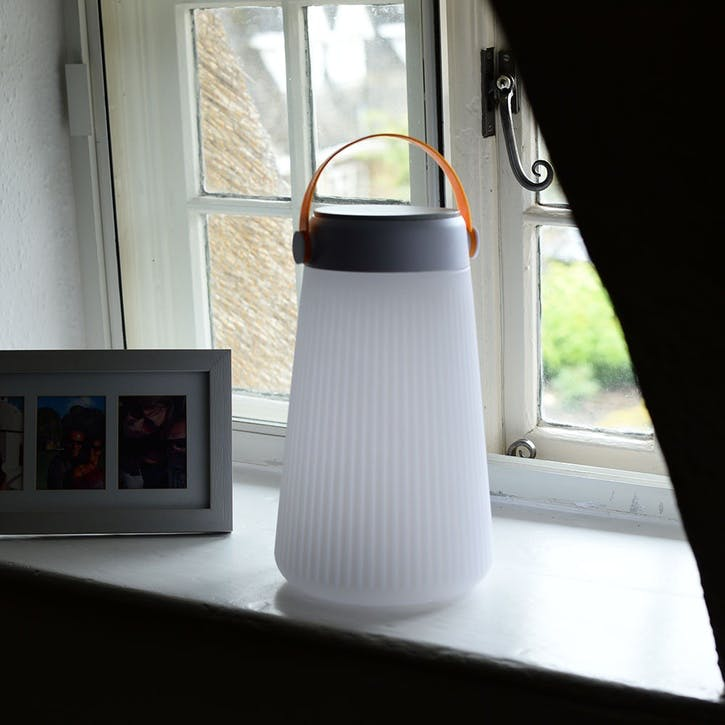 Let's Go Bluetooth Speaker Lantern, White