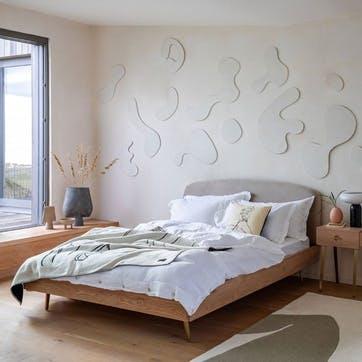 Crawford Double Bed Light Oak
