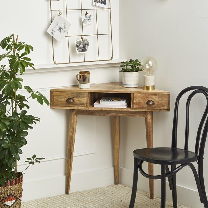 Nordic Wooden Corner Desk