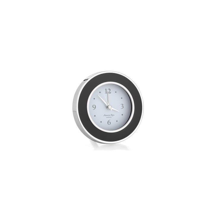 Alarm Clock; Black & Silver