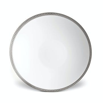 Soie Tressée Soup/ Pasta Bowl, Platinum