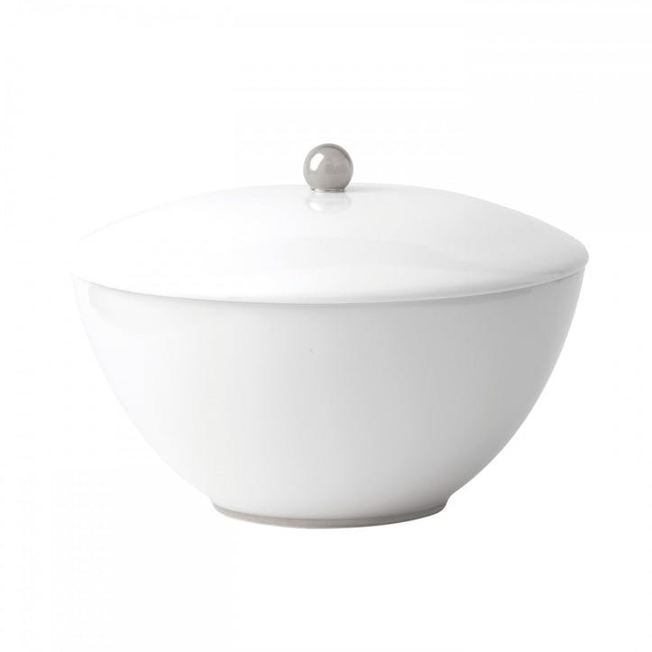 Platinum Lidded Vegetable Dish