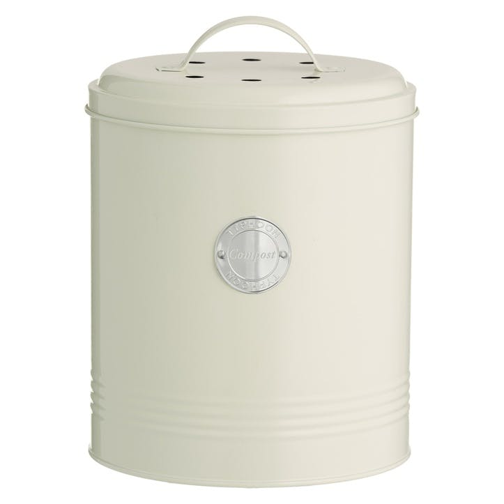 Living Compost Caddy, Cream