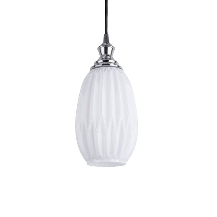Cut Glass Pendant Light, Opal White