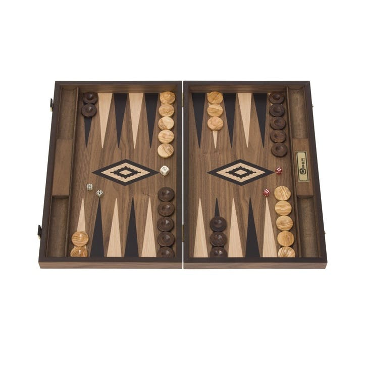 Mahogany Backgammon Set, 47cm; Brown