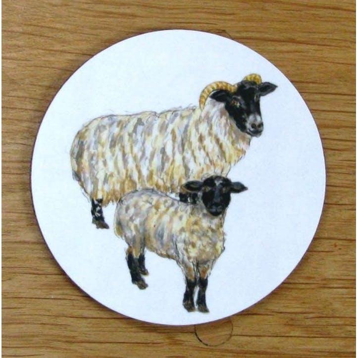 Blackface Sheep Coaster - 10cm