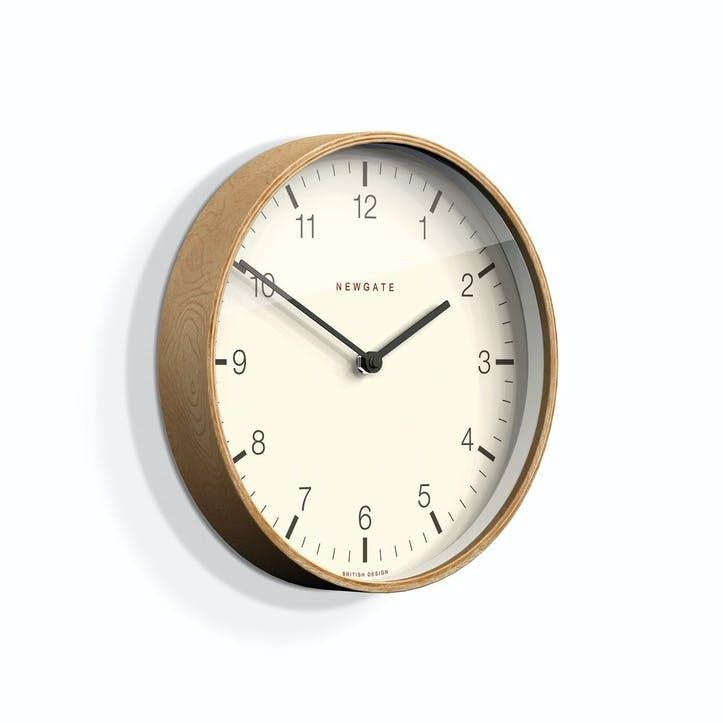 Mr Clarke Wall Clock, D28cm, Pale Wood