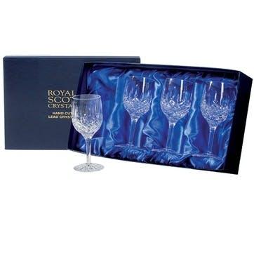 London Large Crystal Wine Glasses, Set of 4