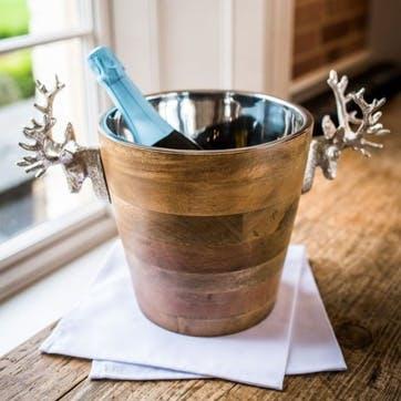 Huntsman Stag Head Wooden Wine Cooler