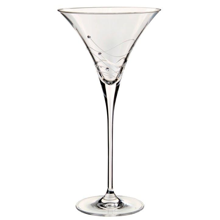Glitz Martini Glasses, Pair