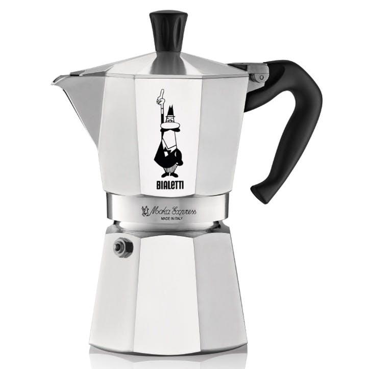 Moka Express Espresso Maker - 4 Cup; Silver
