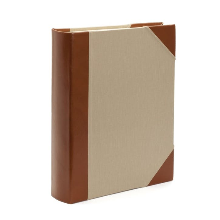 Safari Half Bound Portrait Photo Album, Tuscan