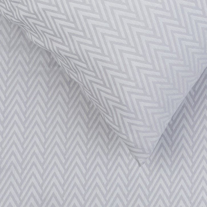 Herringbone Grey King Duvet Cover