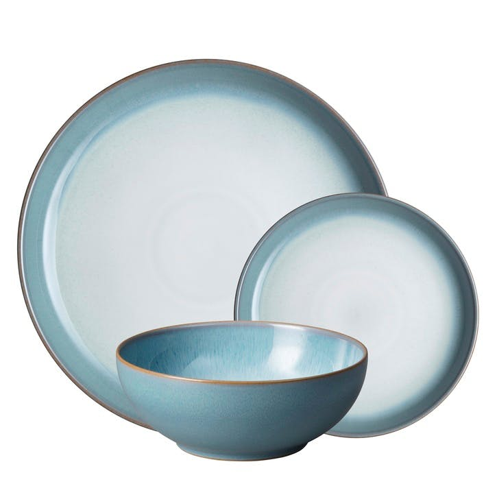 Azure Haze Coupe Dinnerware Set, 12 Piece