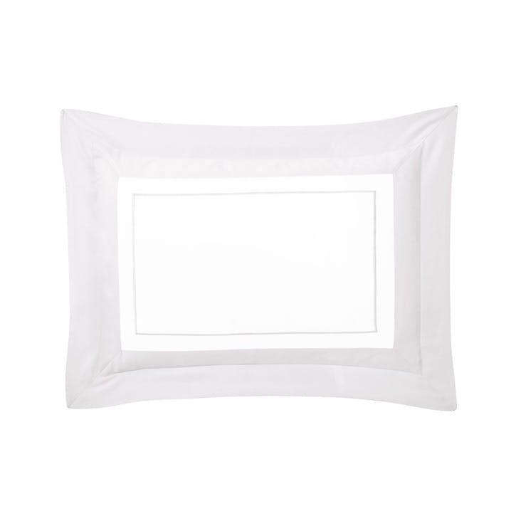 Lutece Silver Pillowcase, King