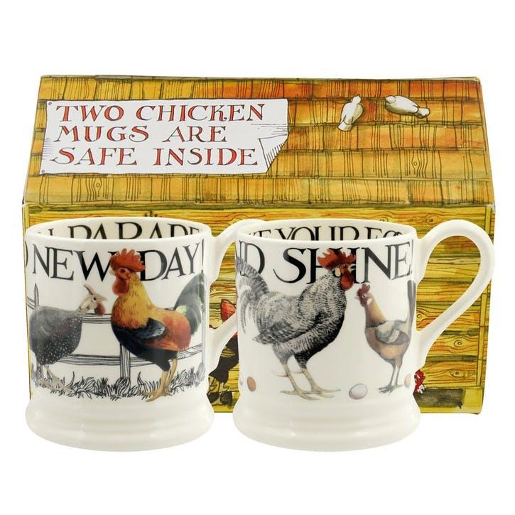 Rise & Shine Set of 2 Mugs Boxed, 1/2 Pint