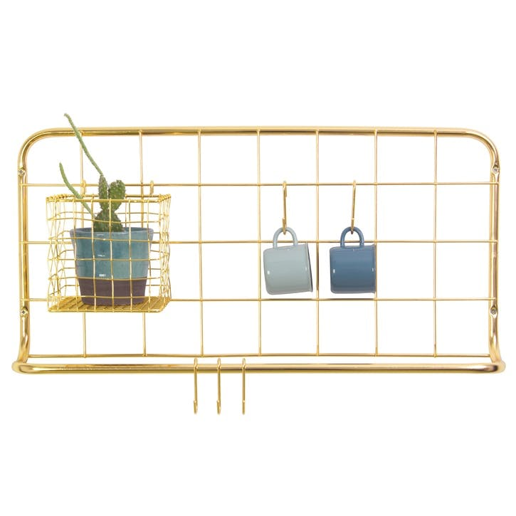 Kitchen Rack Set, Gold