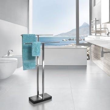 Menoto Towel Stand, Stainless Steel